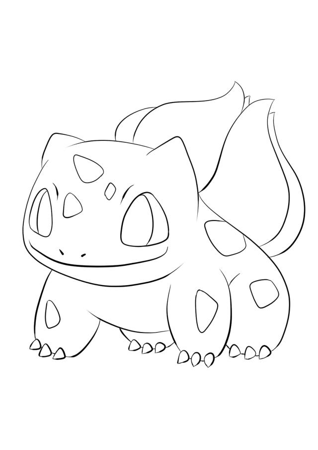 Bulbasaur No.19 : Pokemon Generation I - All Pokemon coloring