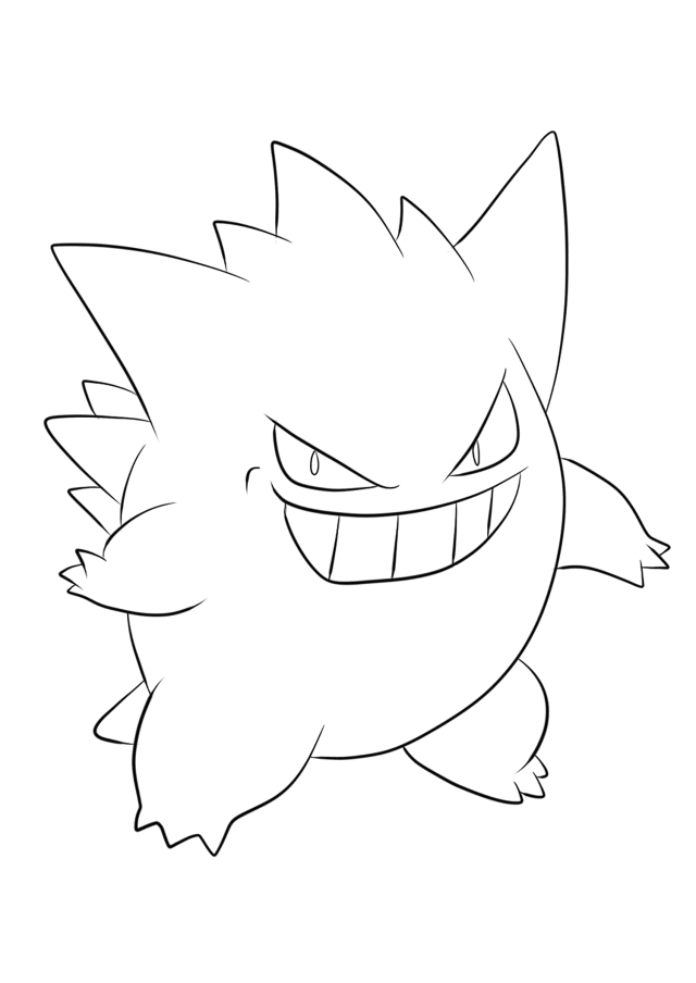 Gengar No.18 : Pokemon Generation I - All Pokemon coloring pages