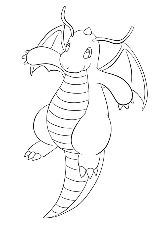 Dragonite No.15 : Pokemon Generation I - All Pokemon coloring