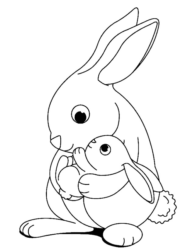 Rabbit to print for free - Rabbit Kids Coloring Pages