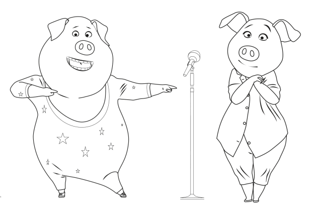 Sing free to color for children - Sing Kids Coloring Pages