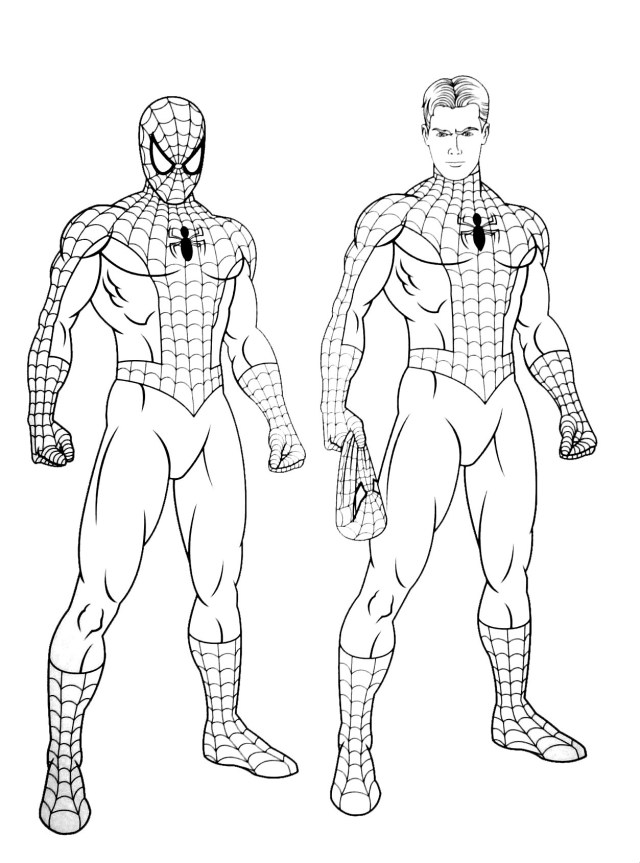 Spiderman free to color for kids - Spiderman Kids Coloring Pages