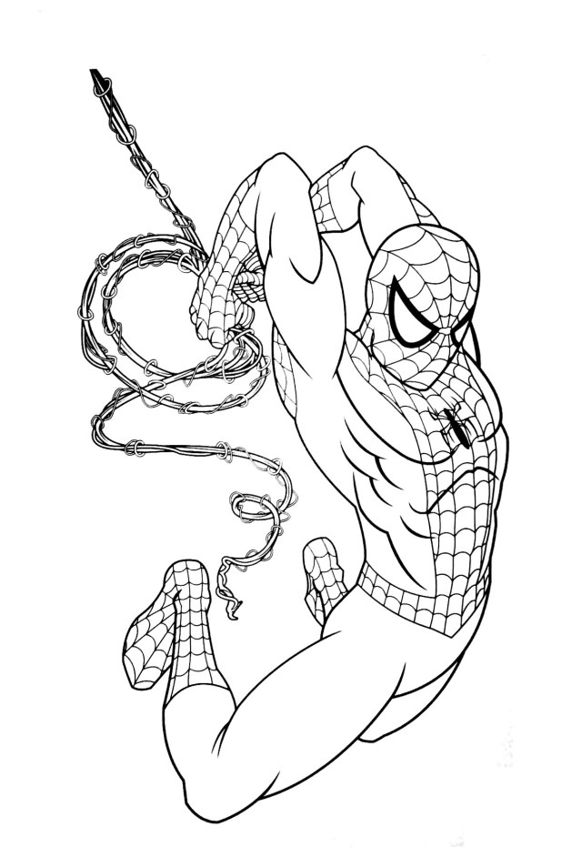 Spiderman free to color for children - Spiderman Kids Coloring Pages