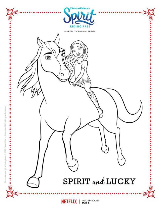 Spirit - Spirit Kids Coloring Pages