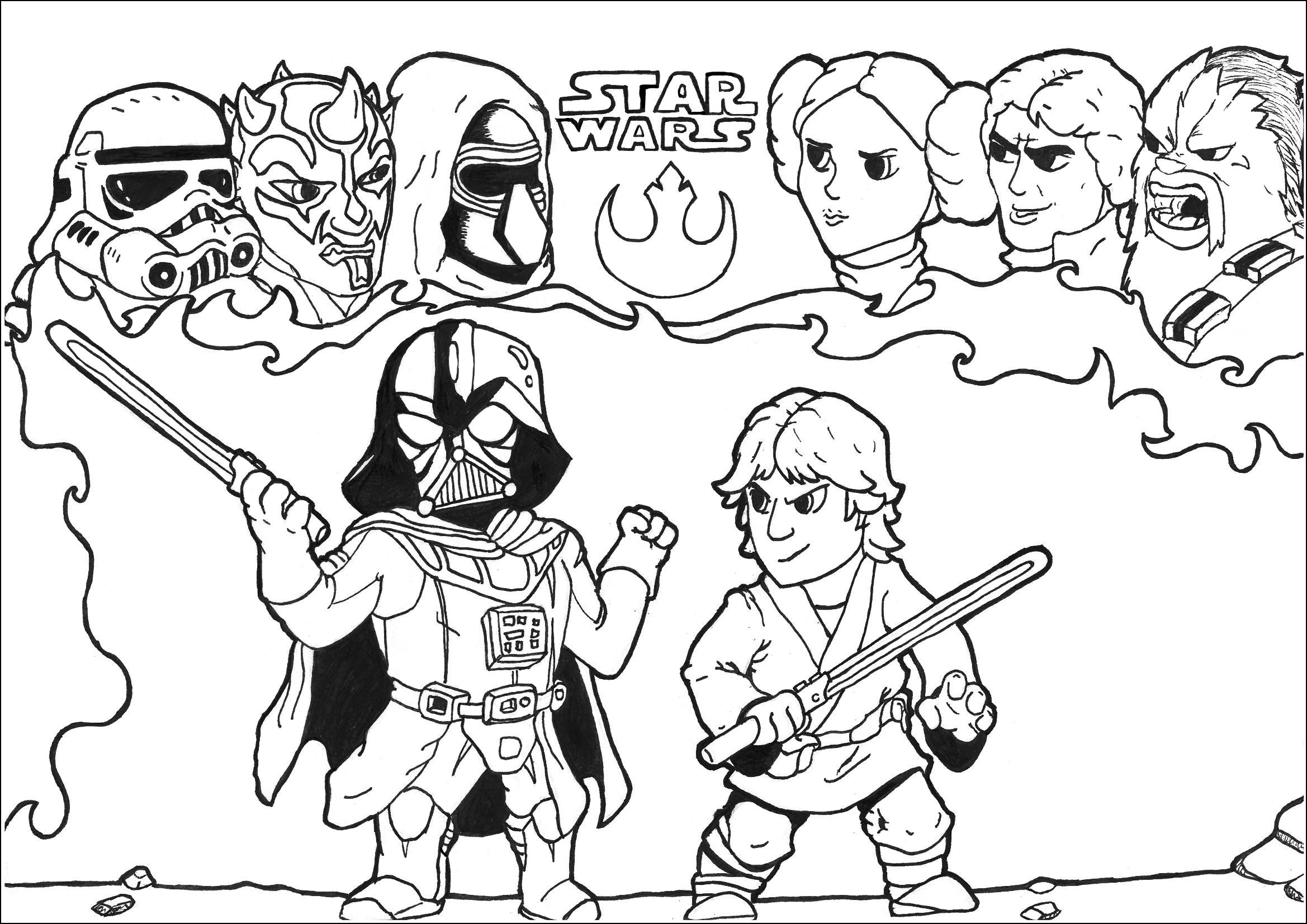 Star Wars Free To Color For Kids
