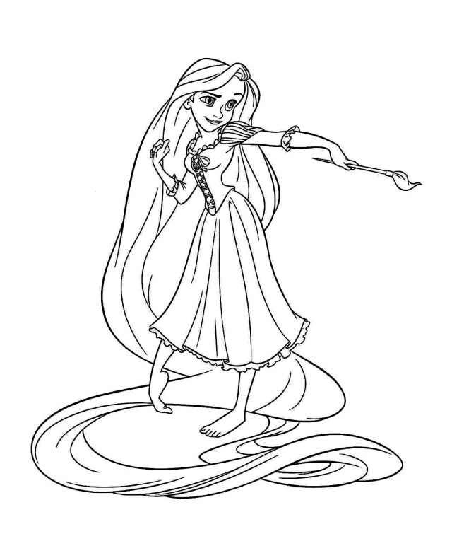 Tangled for kids - Tangled Kids Coloring Pages