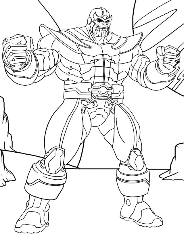 Thanos - Thanos Kids Coloring Pages