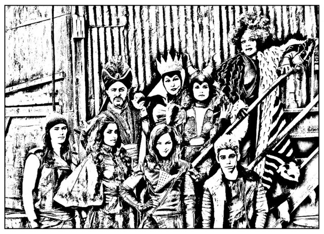 The descendants for children - The Descendants Kids Coloring Pages