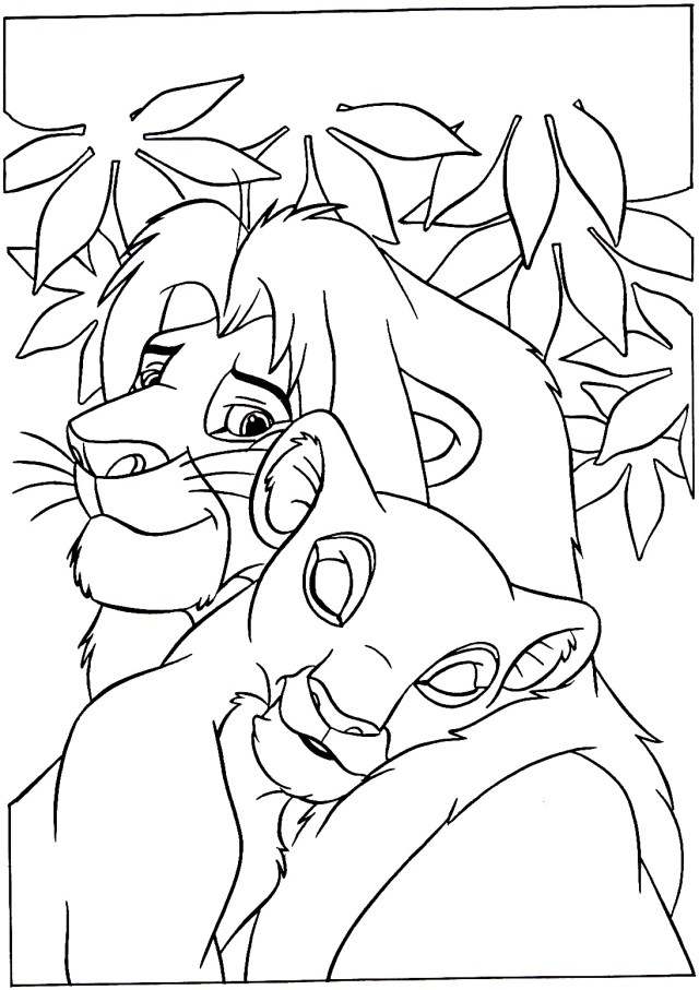 Lion King & Queen - The Lion King Kids Coloring Pages