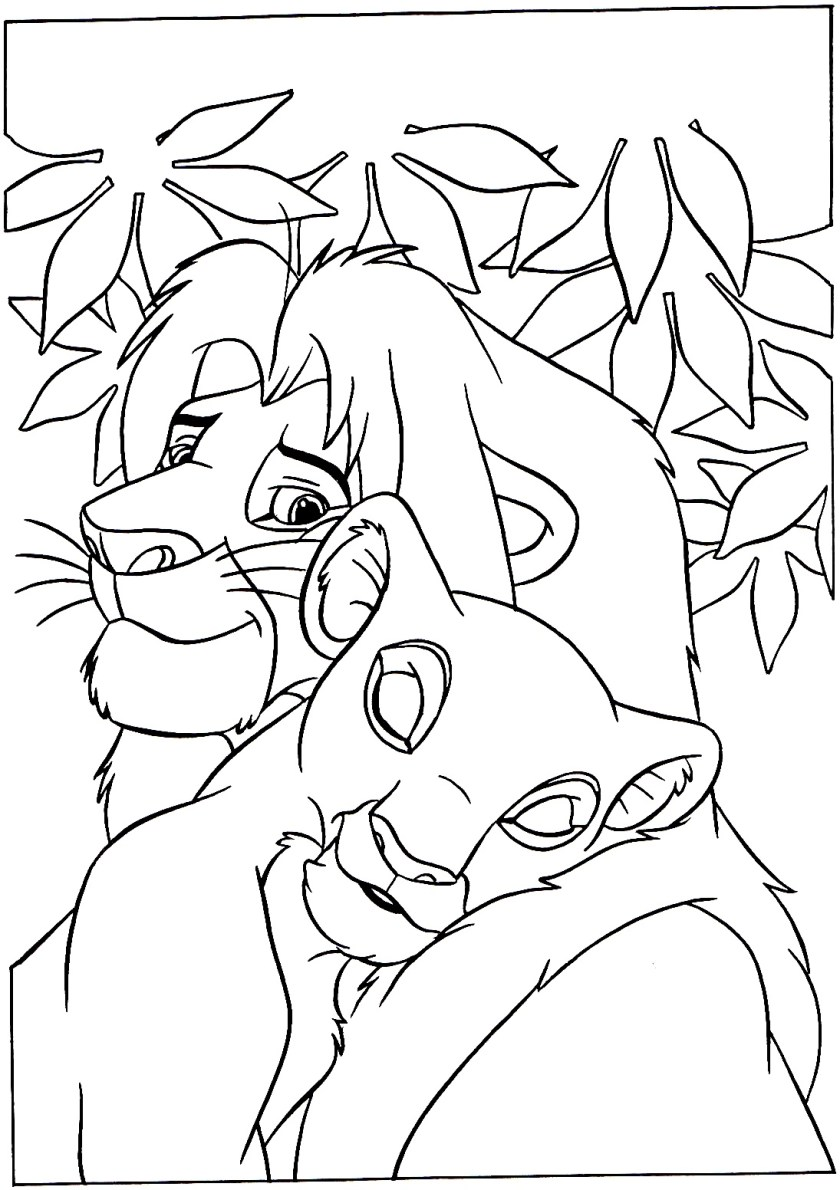 lion king & queen  the lion king kids coloring pages