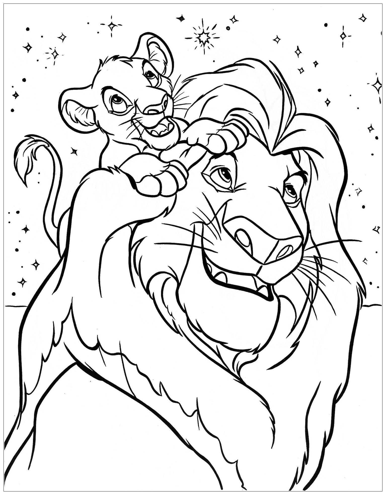 Mufasa With His Son Simba