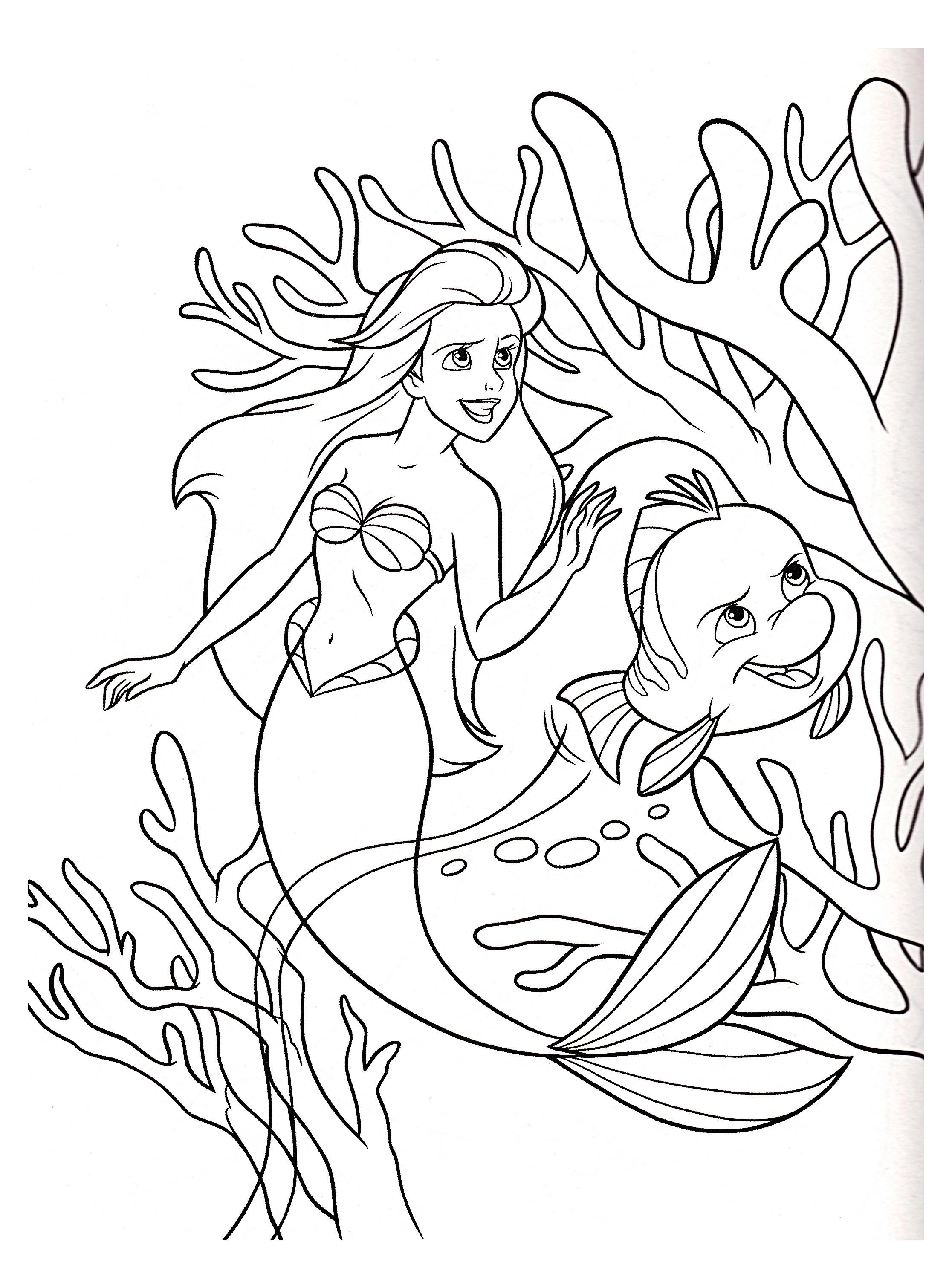 The Little Mermaid To Color For Children