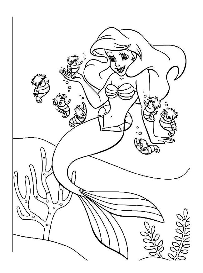 The Little Mermaid Free To Color For Kids The Little