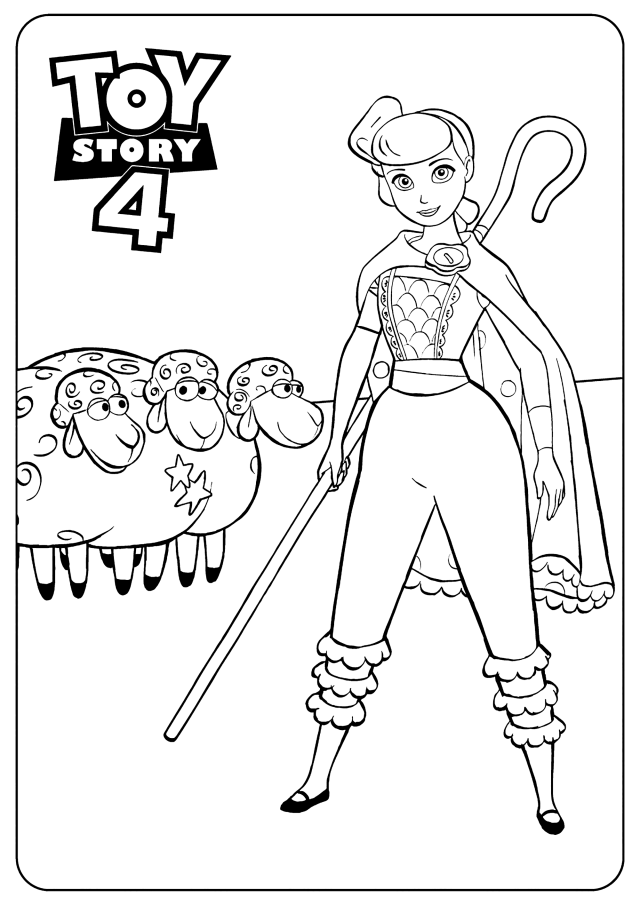 Bo Peep : Toy Story 26 coloring page - Toy Story 26 Kids Coloring Pages
