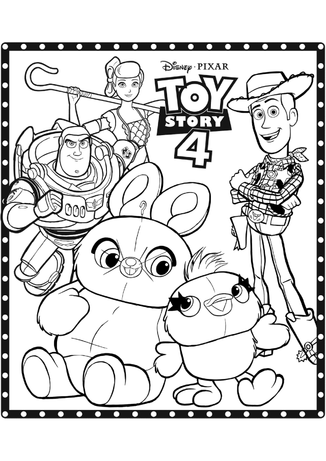 Toy Story 30 coloring page Disney / Pixar : All the characters