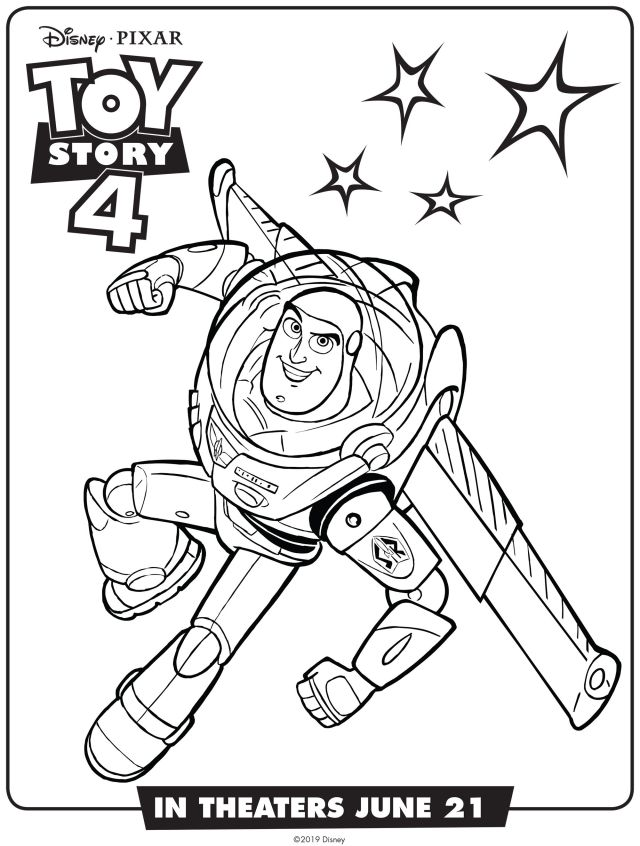 Buzz Lightyear : Toy Story 19 coloring page Disney / Pixar - Toy