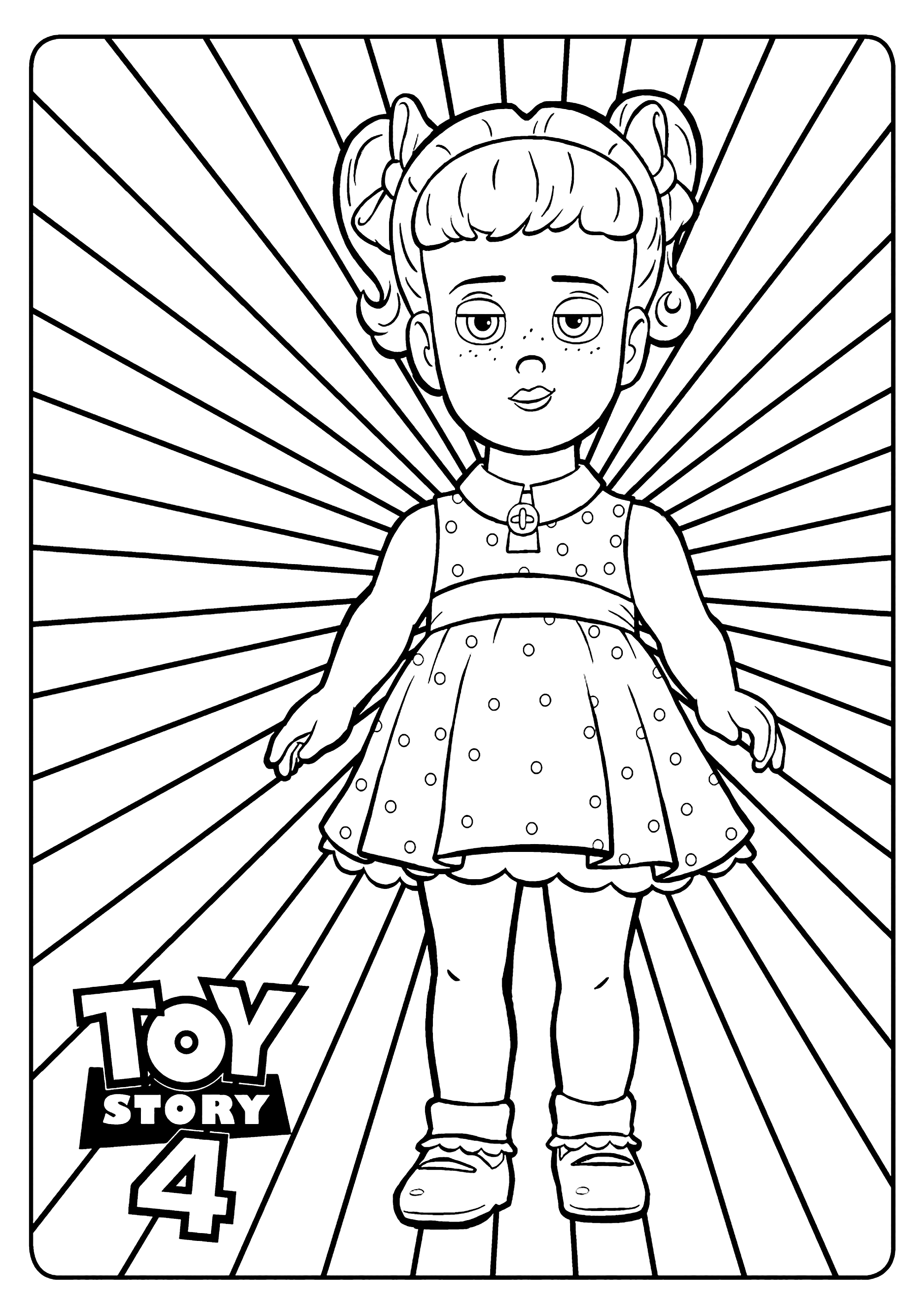 Gabby Gabby Incredible Toy Story 4 Coloring Pages