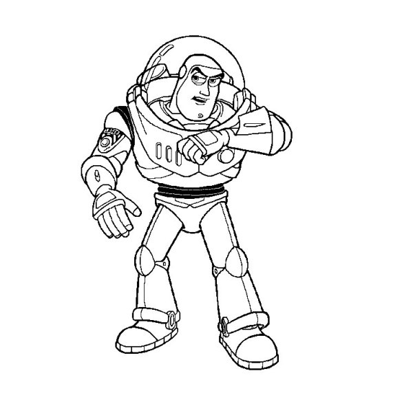 buzz lightyear coloring page # 27