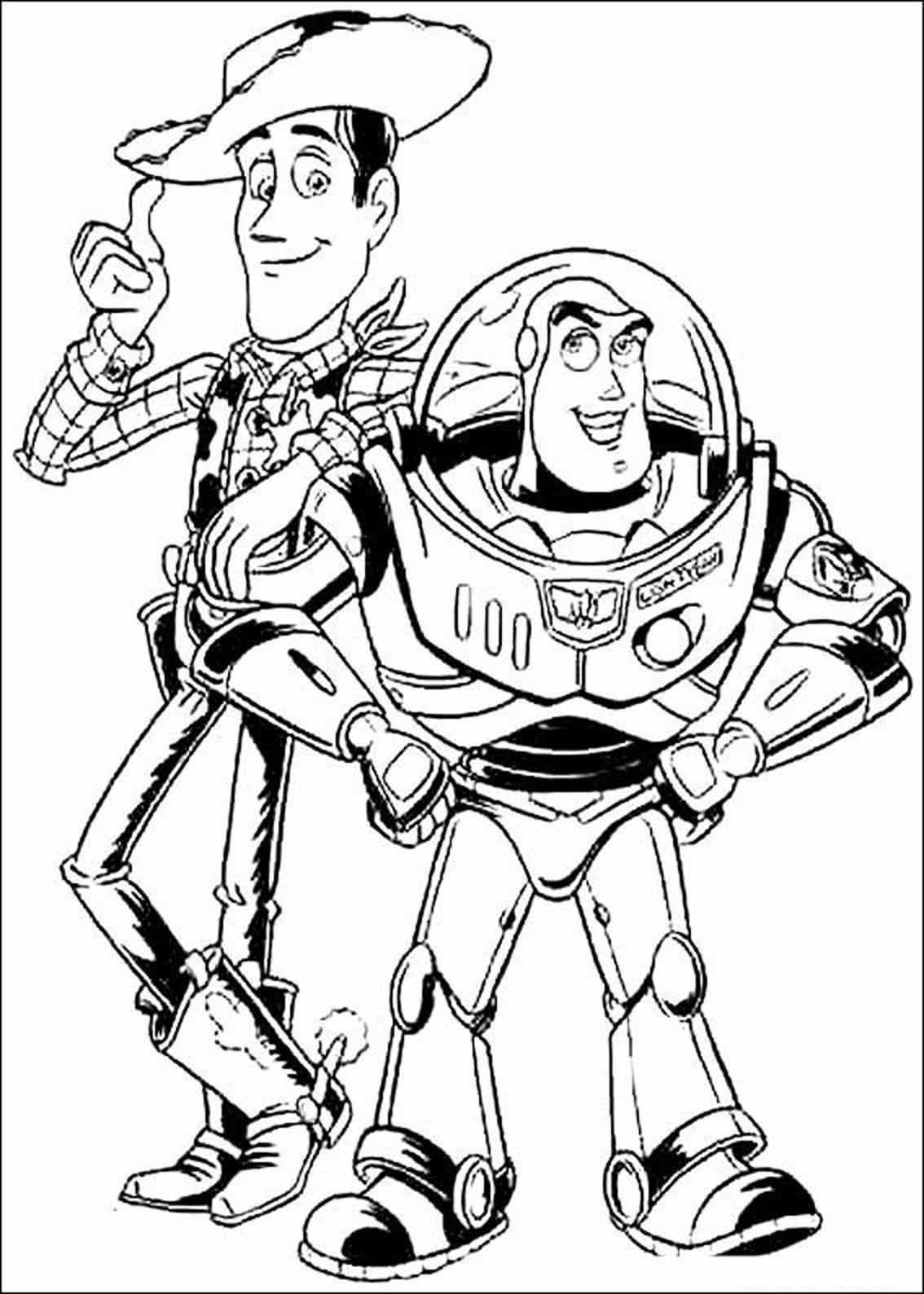 Woody And Buzz Lightyear Toy Story Kids Coloring Pages