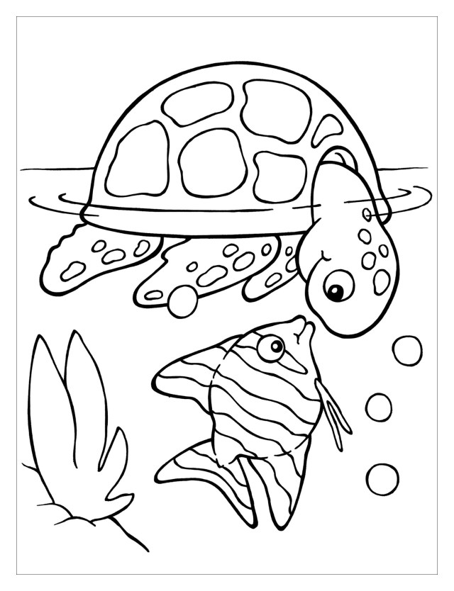 Turtles to color for kids - Turtles Kids Coloring Pages