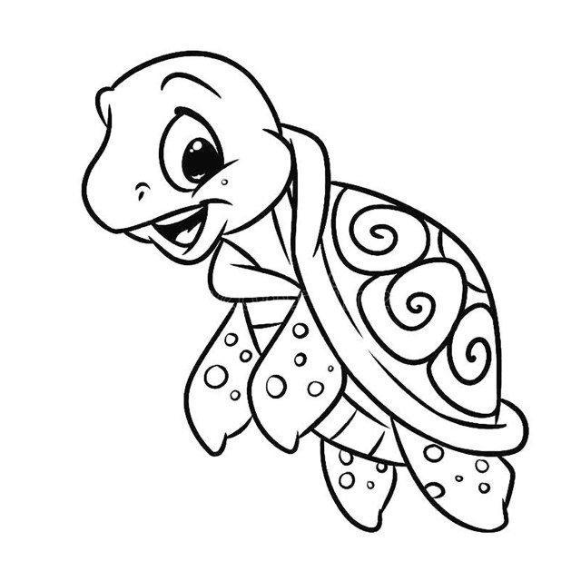 Turtles for children - Turtles Kids Coloring Pages
