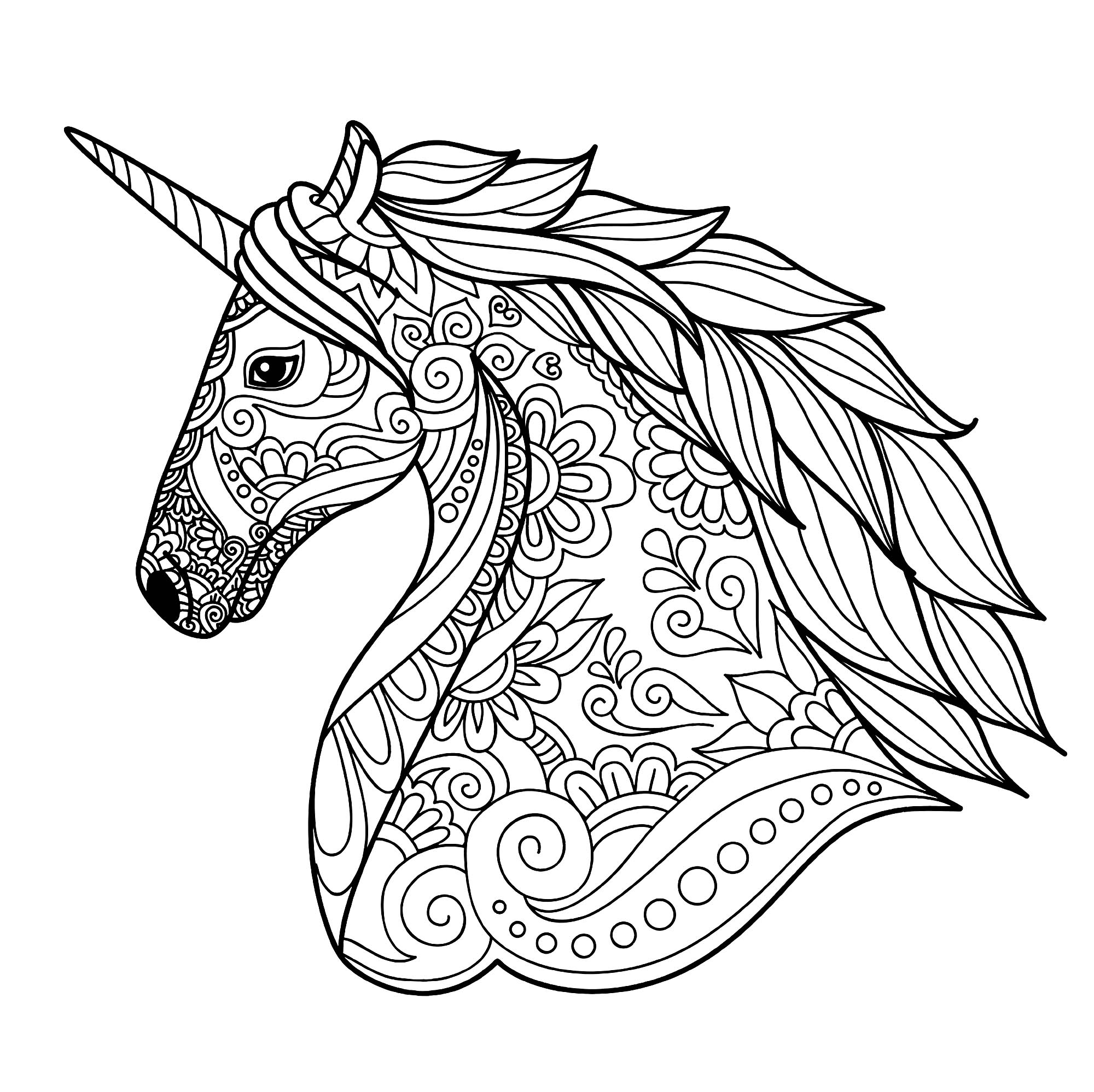 Coloring Pages Of Unicorns To Print
