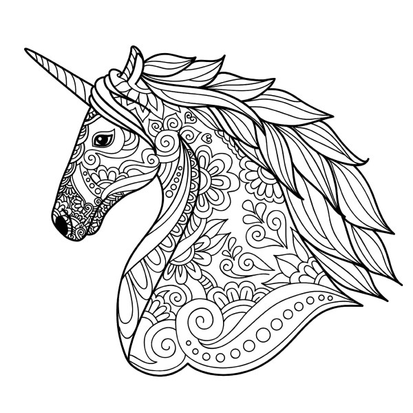 free coloring kids unicorn # 10
