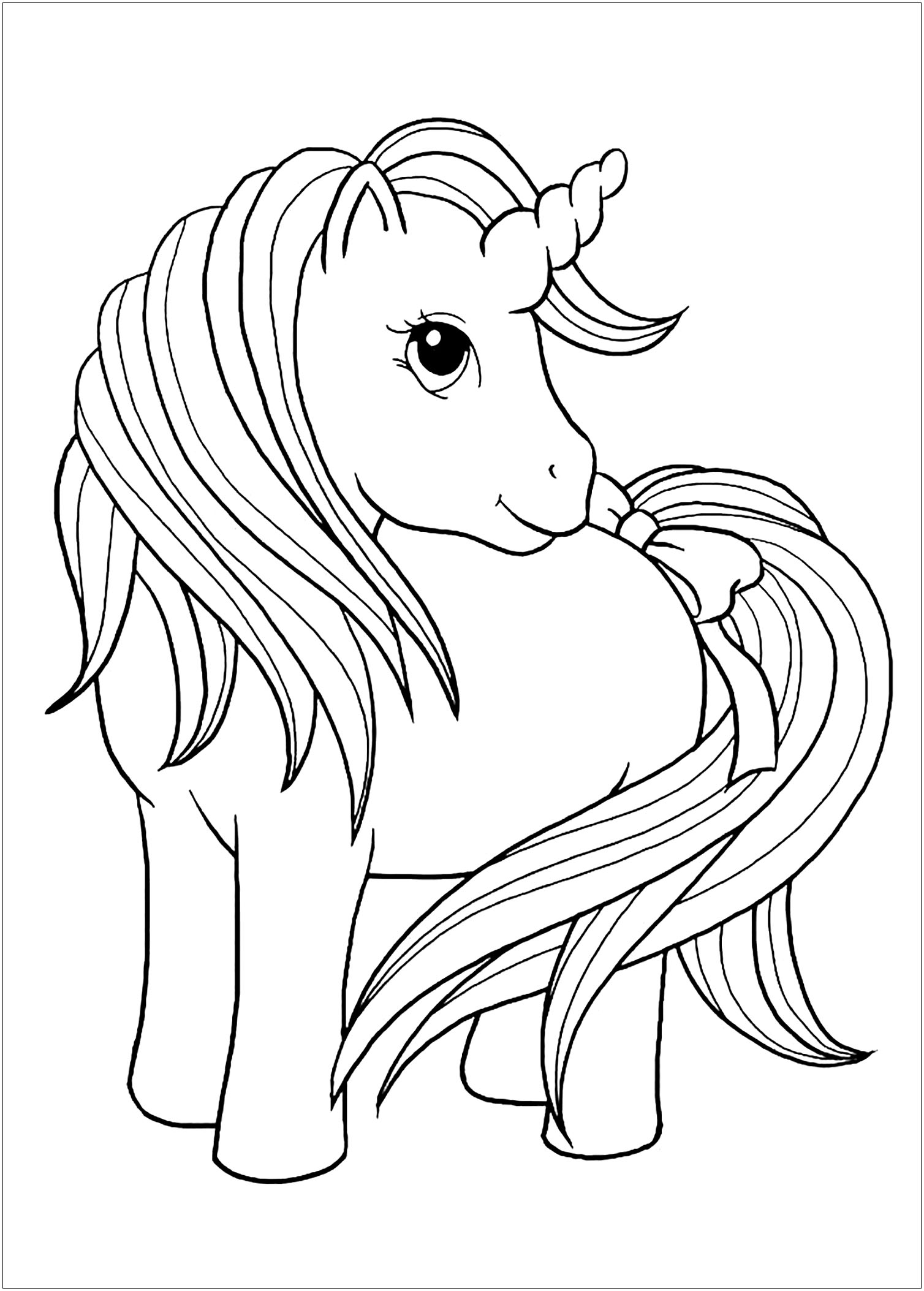 Unicorns Free To Color For Children