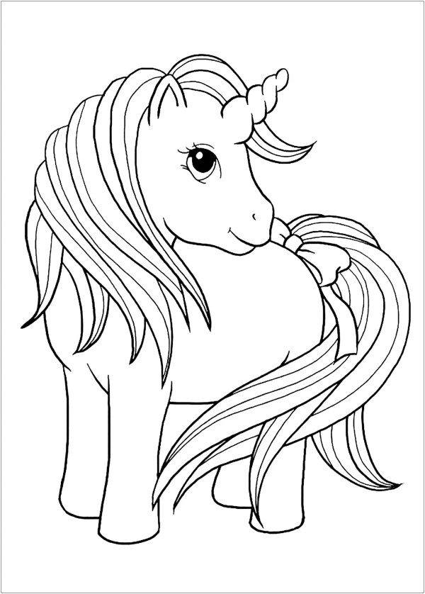 free unicorn coloring pages # 25