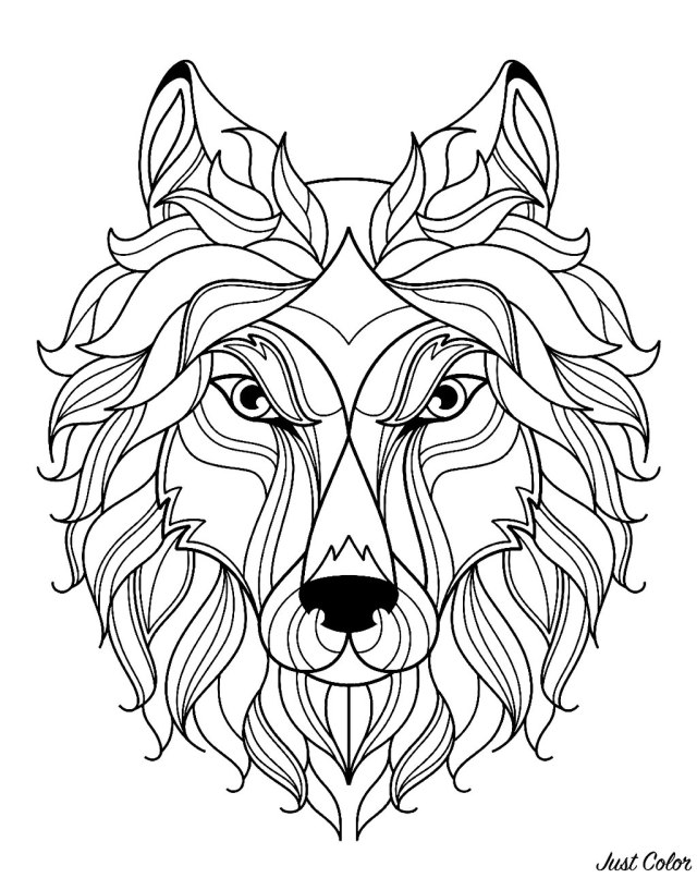 Wolf free to color for kids - Wolf Kids Coloring Pages