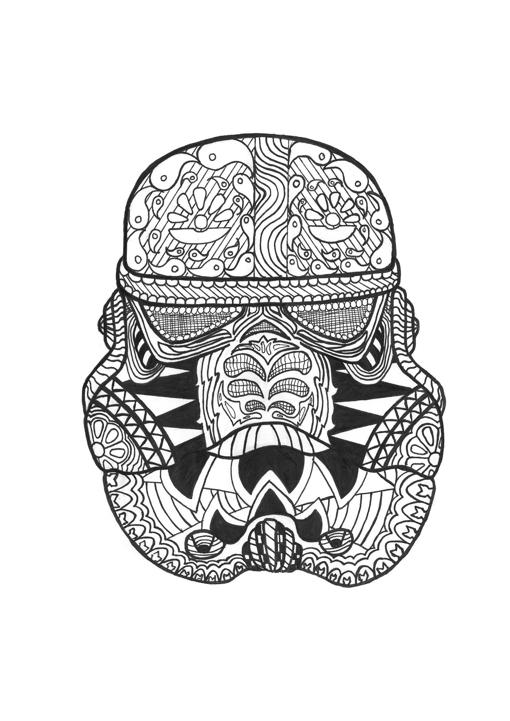 Zen Stormtrooper By Allan Zen And Anti Stress Coloring Pages