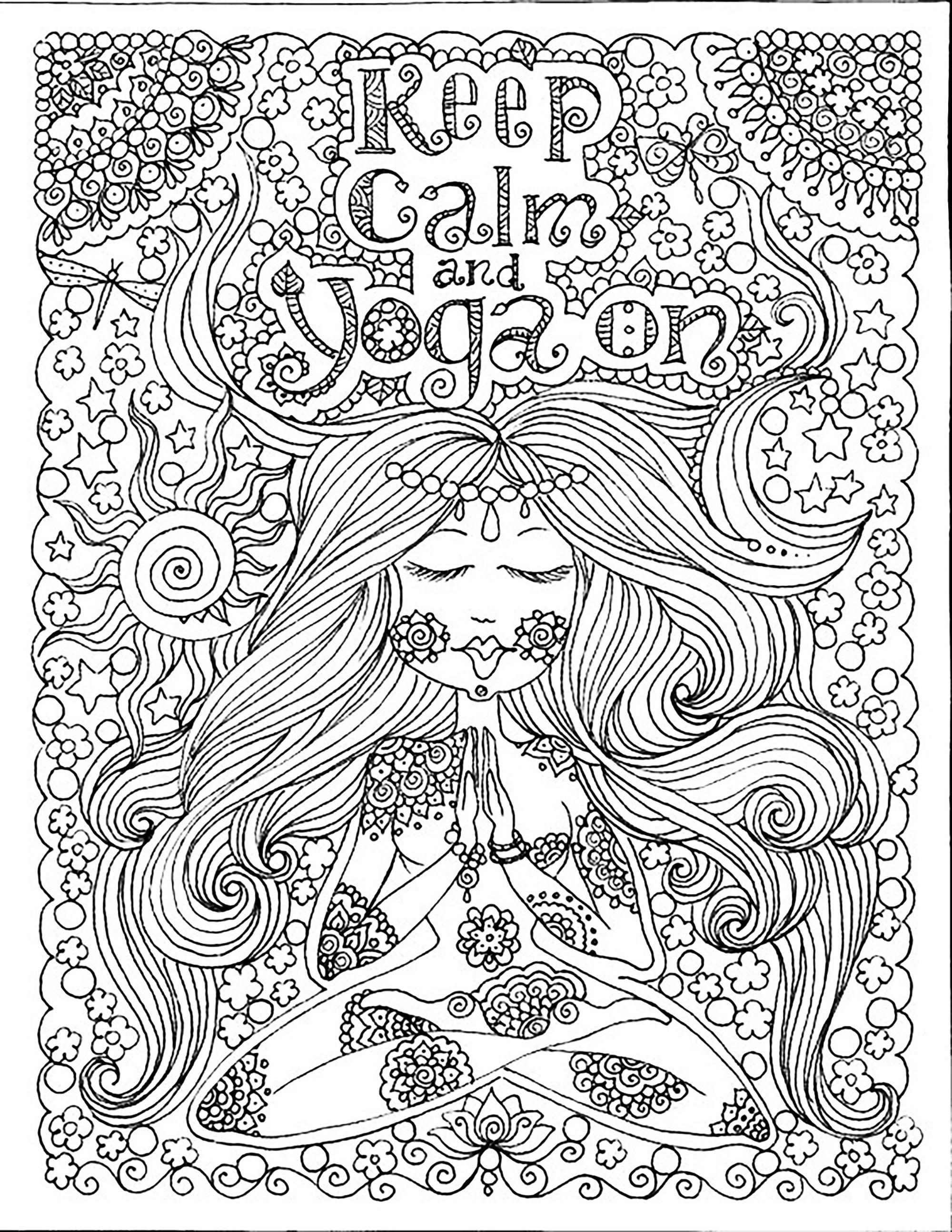 Keep Calm And Do Yoga By Deborah Muller Zen And Anti Stress