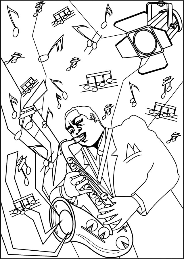 Jazz - Coloring Pages for Adults