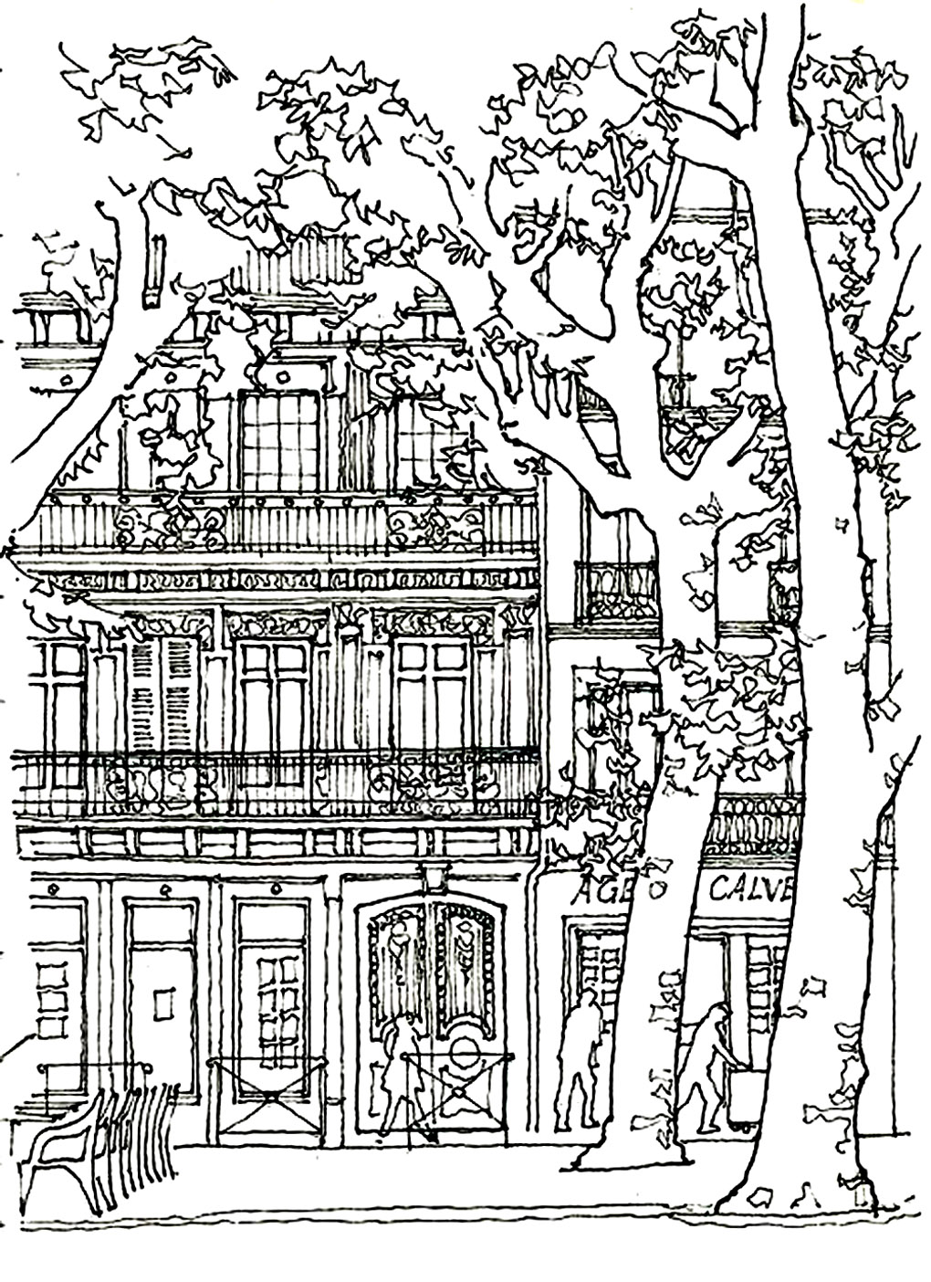 Architecture House Tree Architecture And Living Coloring Pages