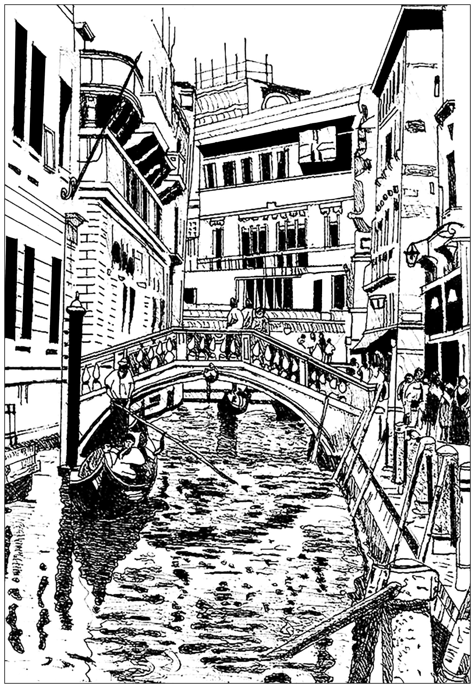 Venice Drawing Architecture And Living Coloring Pages For