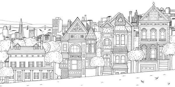 coloring pages of houses # 8