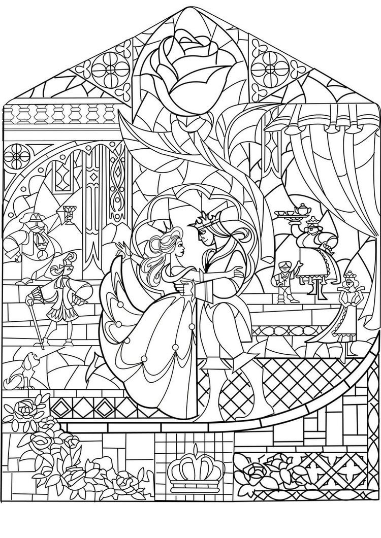 Prince Princess Art Nouveau Style Return To Childhood Coloring