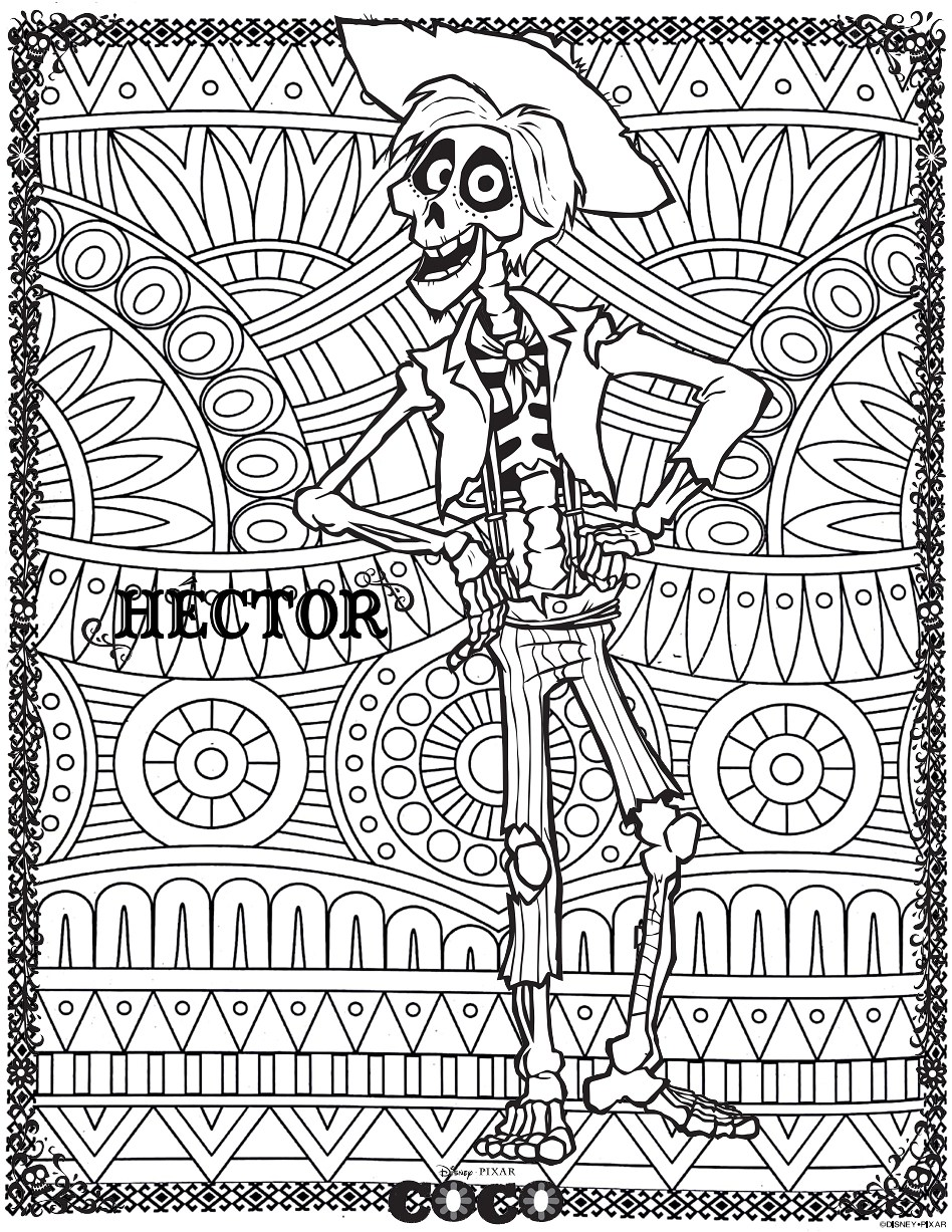 Disney Coco Hector Return To Childhood Coloring Pages For