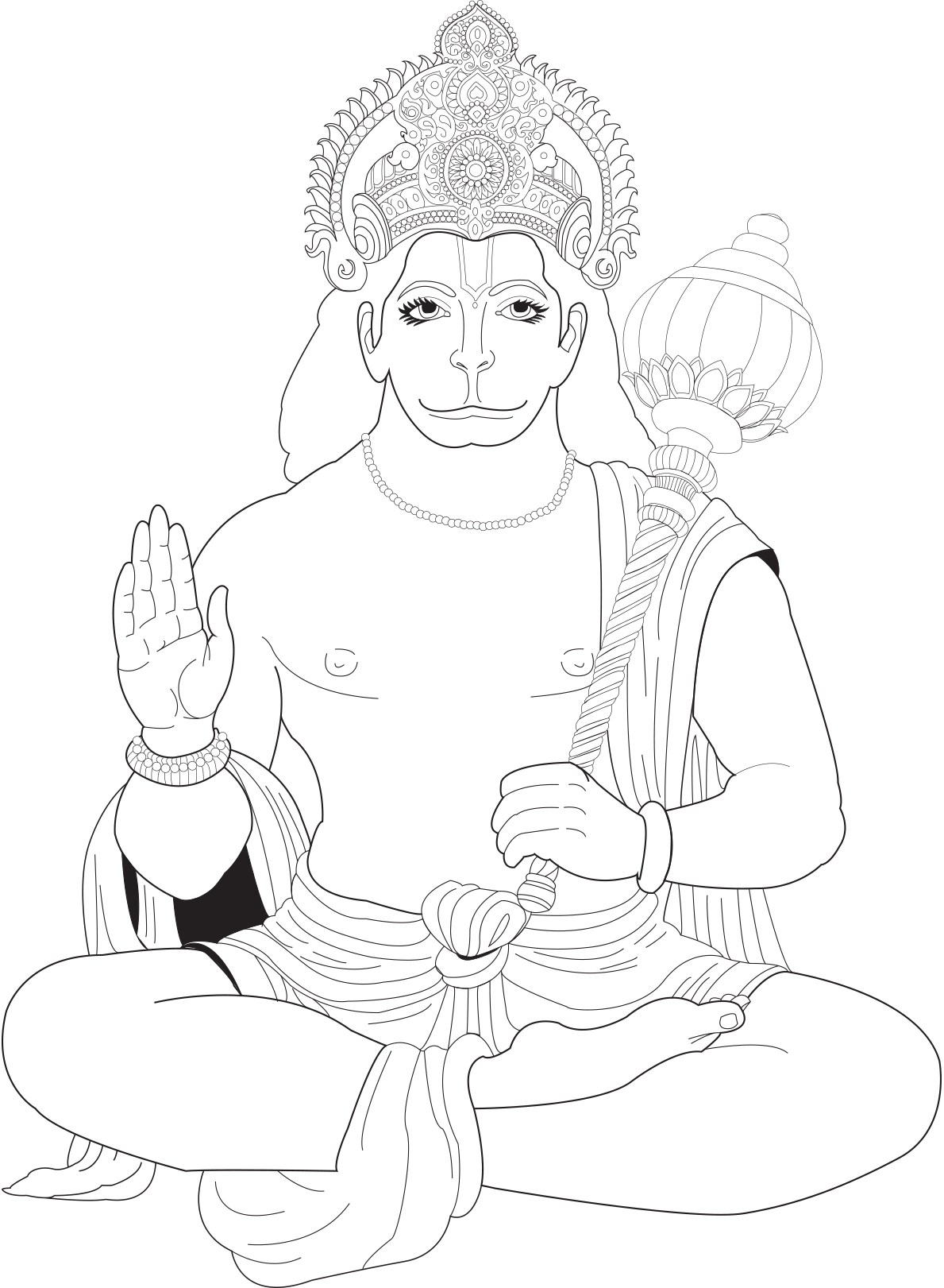 Hanuman India Bollywood Coloring Pages For Adults Justcolor