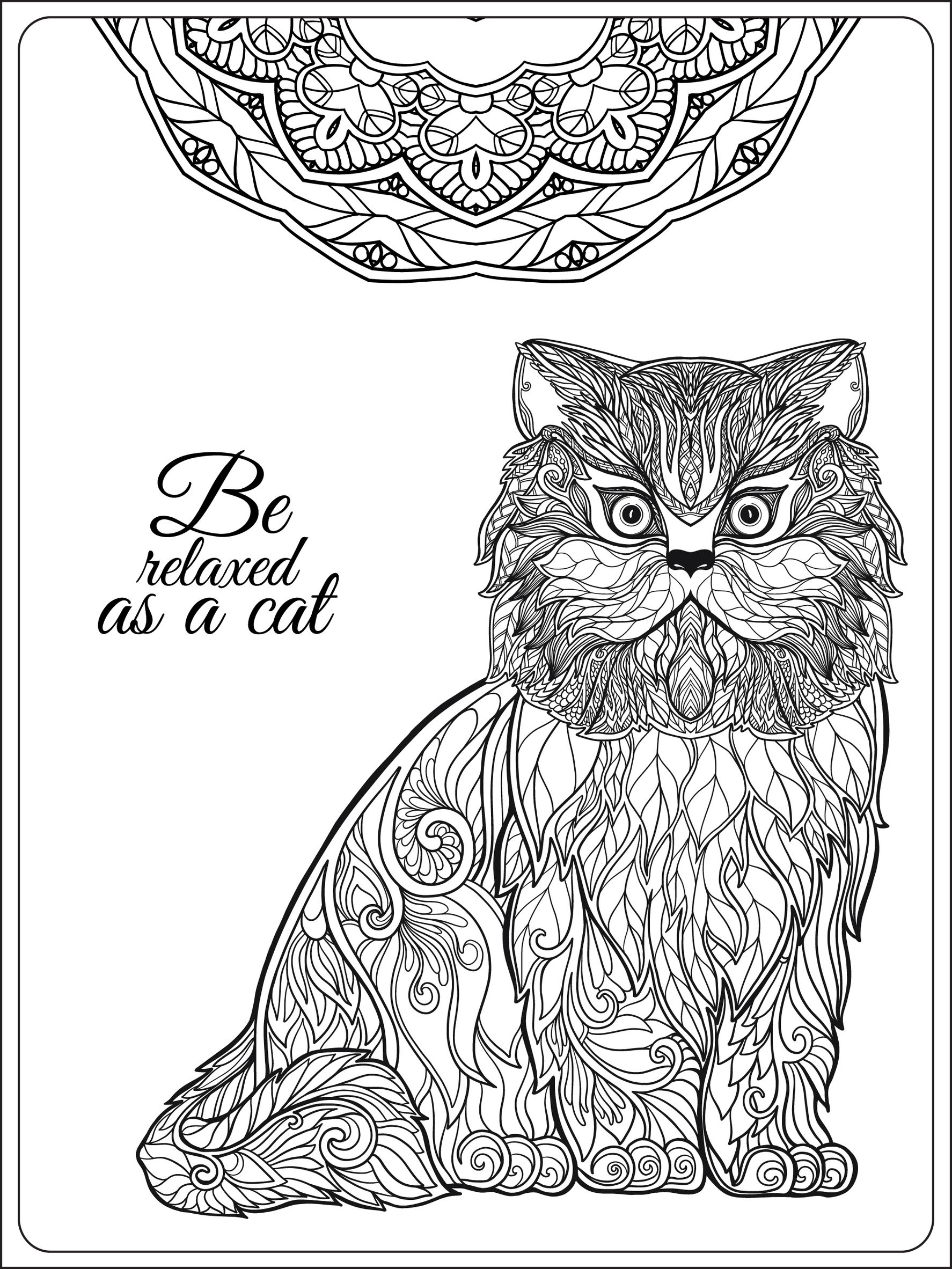 Pages Be Relaxing As A Cat By Elena Besedina Cats Coloring