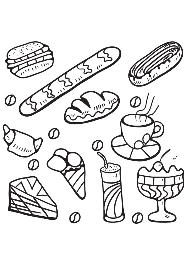 coloring pages food # 4