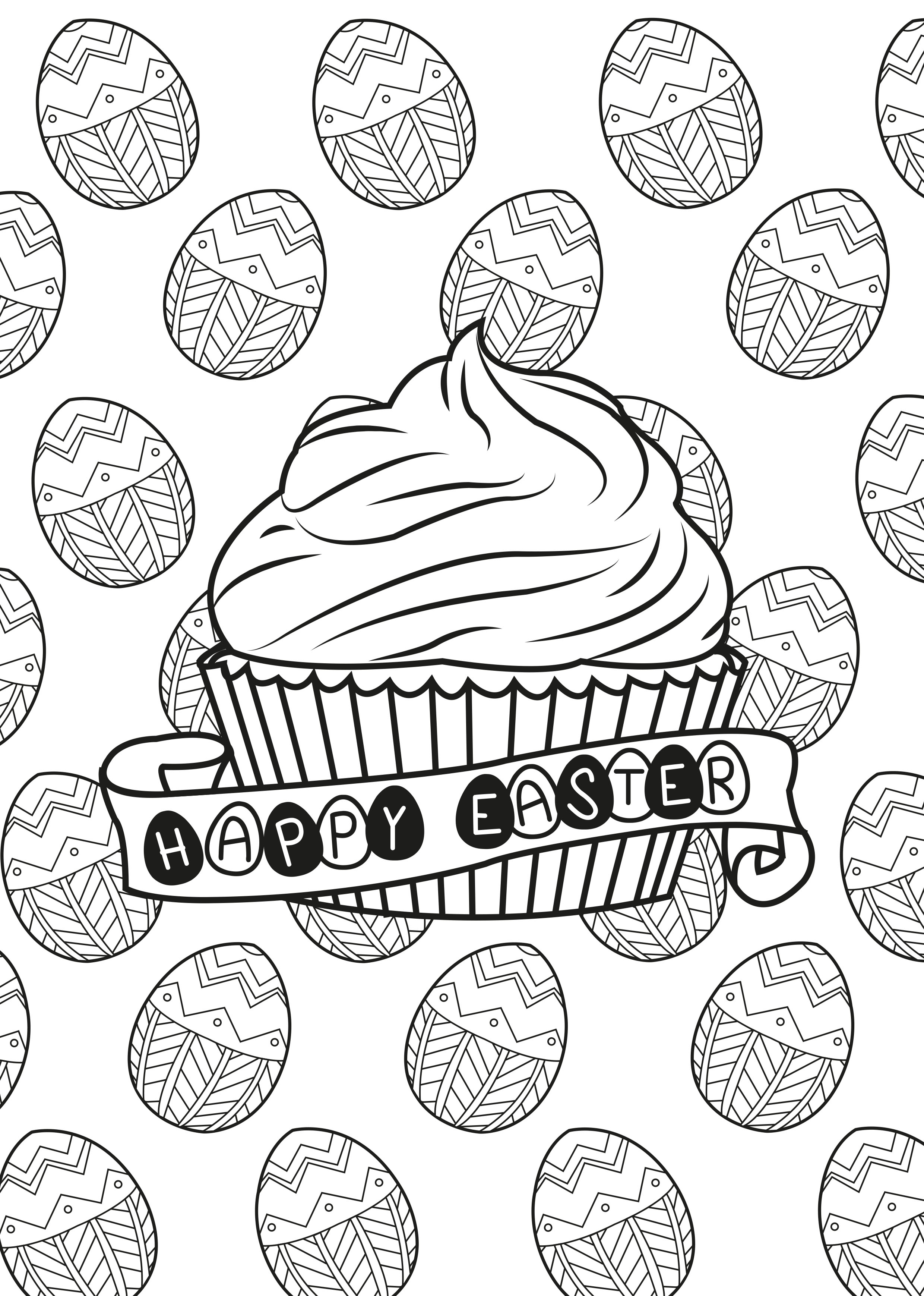 Cupcakes And Cakes Coloring Pages For Adults Justcolor