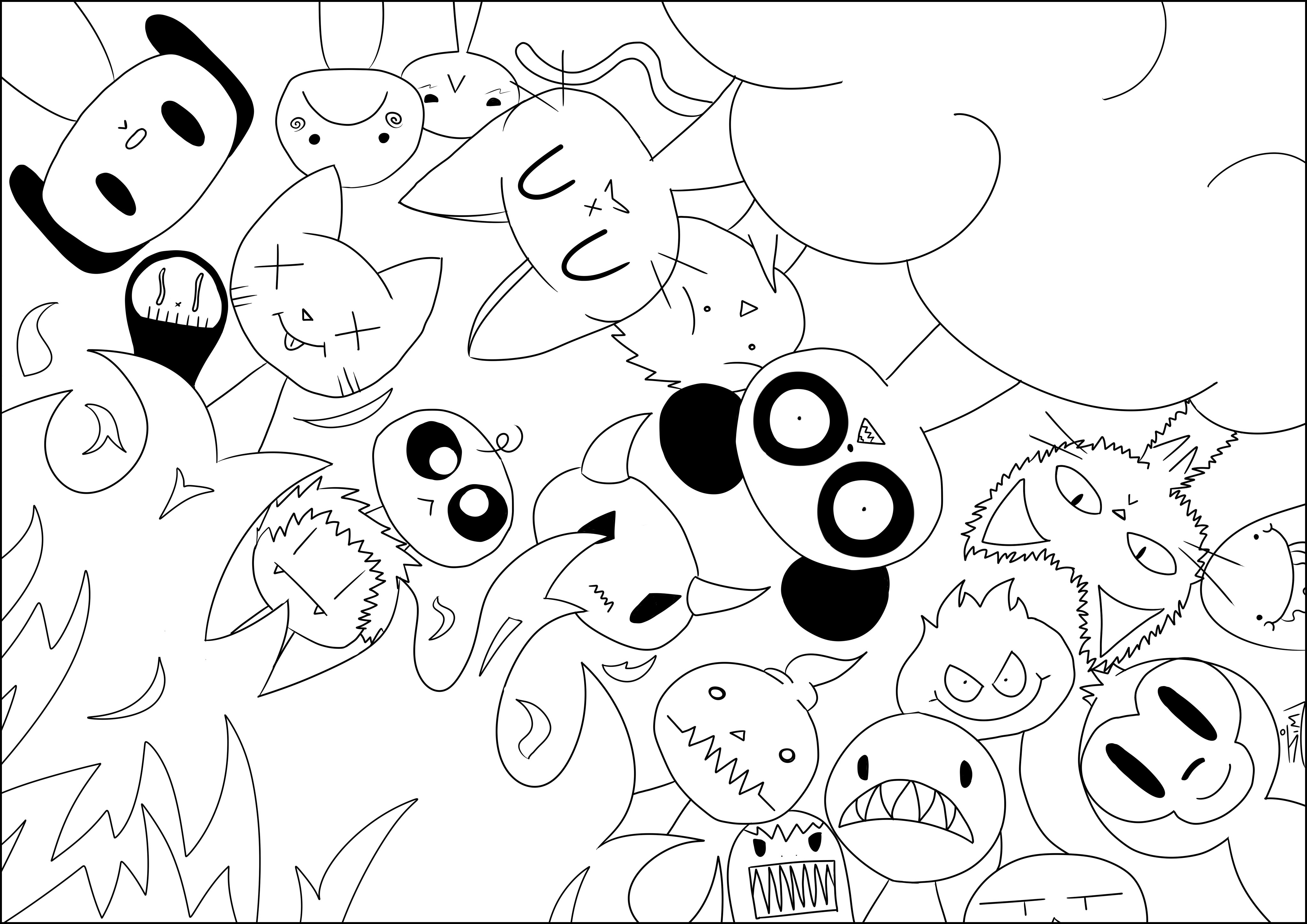 Kawaii Coloring Pages For Adults