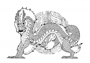 coloring pages dragon # 48