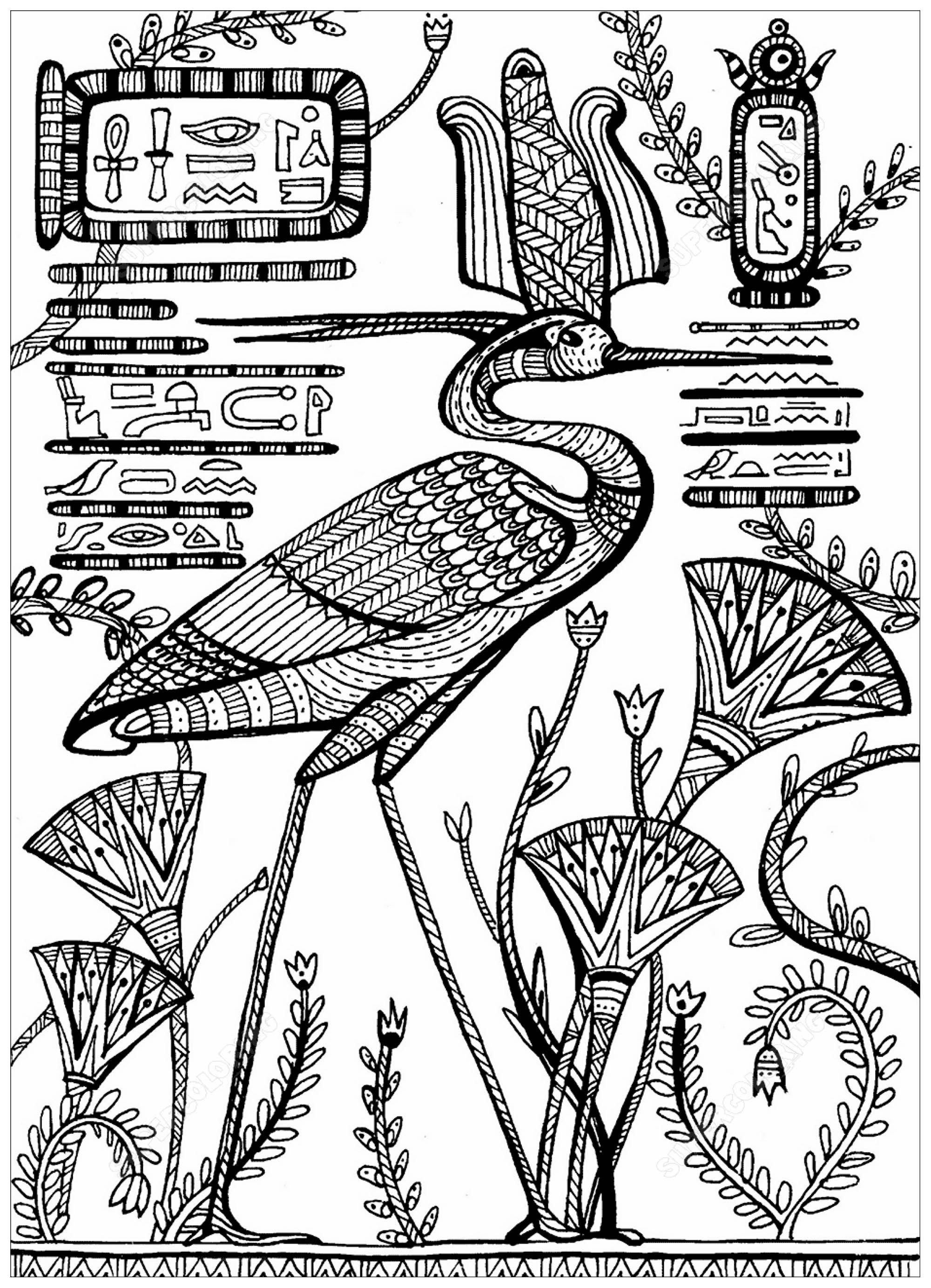 Elegant Ancient Egypt Coloring Pages To Print