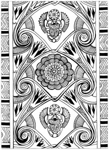 Egypt Amp Hieroglyphs Coloring Pages For Adults