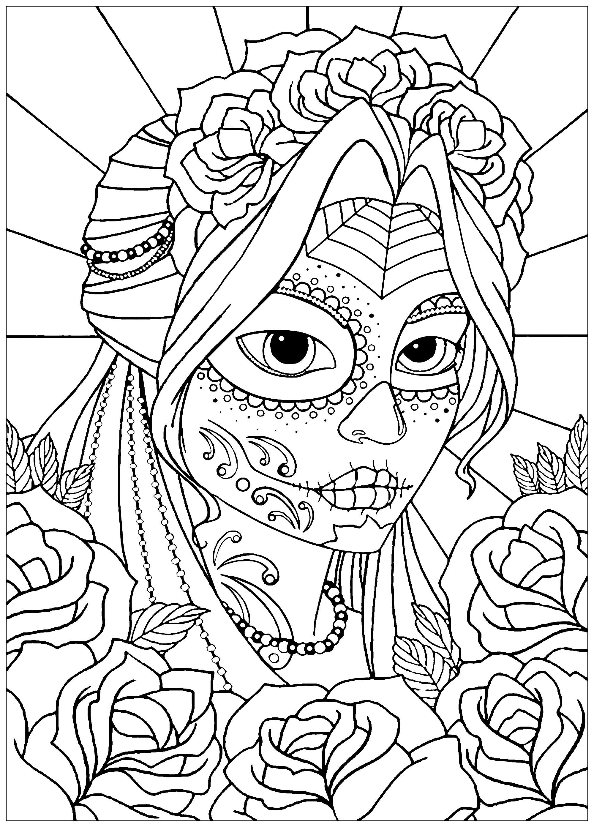 Woman El Dia De Los Muertos
