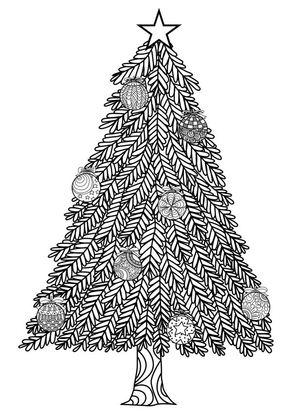 coloring pages christmas tree # 7