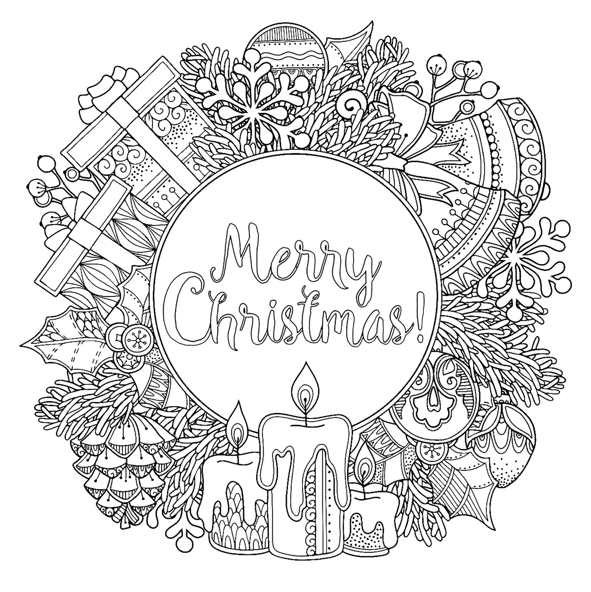 Doodl Christmas Wreath