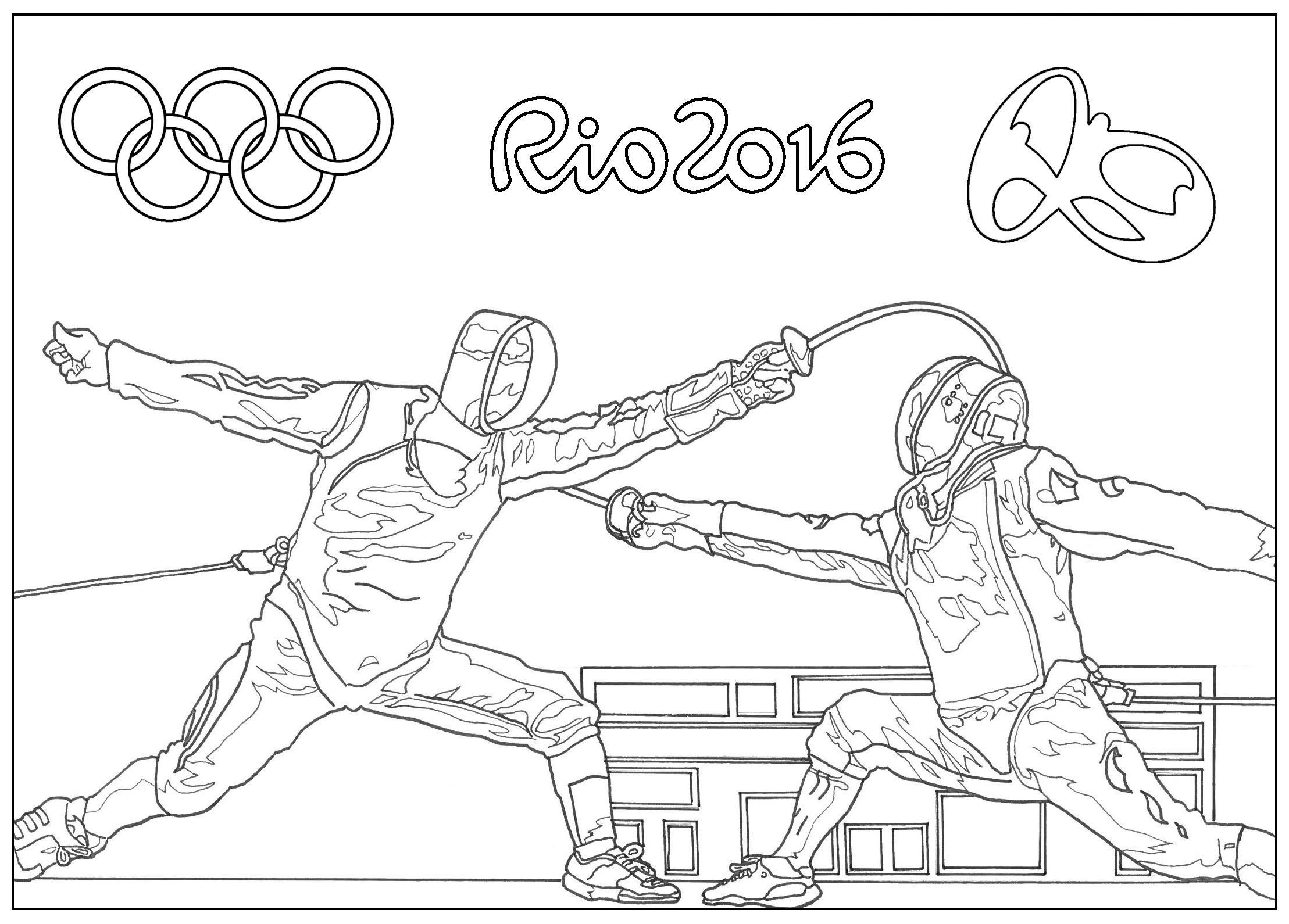 Rio 2016 Olympic Games Fencing Olympic And Sport Coloring